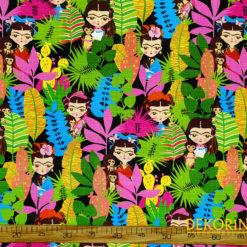 Keten Görünümlü Sevimli Frida Döşemelik Kumaş