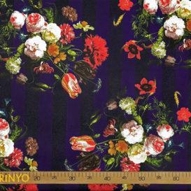 Aranjman Çiçekler Desenli Döşemelik Kumaş