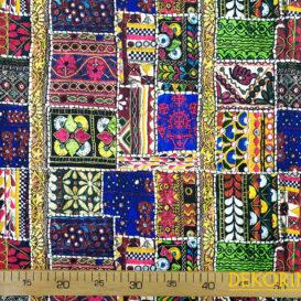 İşleme Görünümlü Özbek Desenli Döşemelik Kumaş