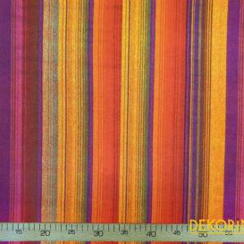 Renkli Vintage Çizgili Döşemelik Kumaş