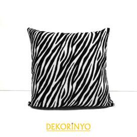 Zebra Desenli Kırlent