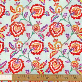 Aplike Görünümlü Sevgi Çiçeği Desenli Kumaş