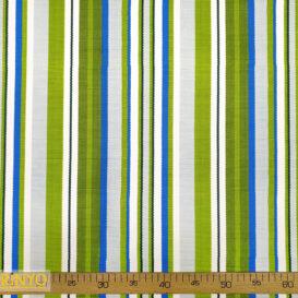 Dokuma Efekt Mavi Yeşil Çizgili Kumaş